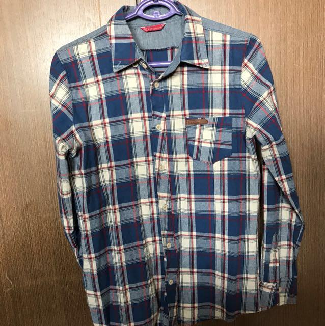 🇰🇷韓國男版格子長袖襯衫
