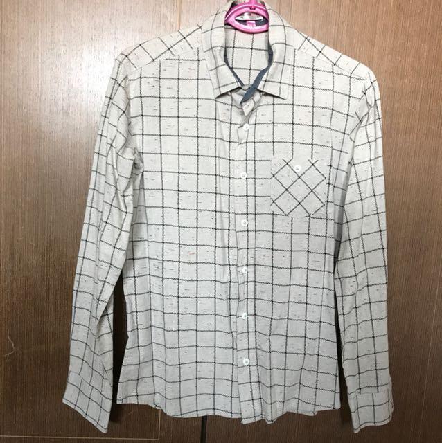 🇰🇷韓國男款卡其色長袖襯衫