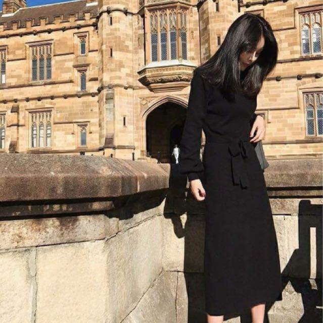 針織連身洋裝👗(現貨黑色)