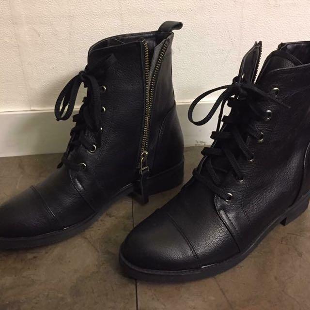 內增高真皮靴