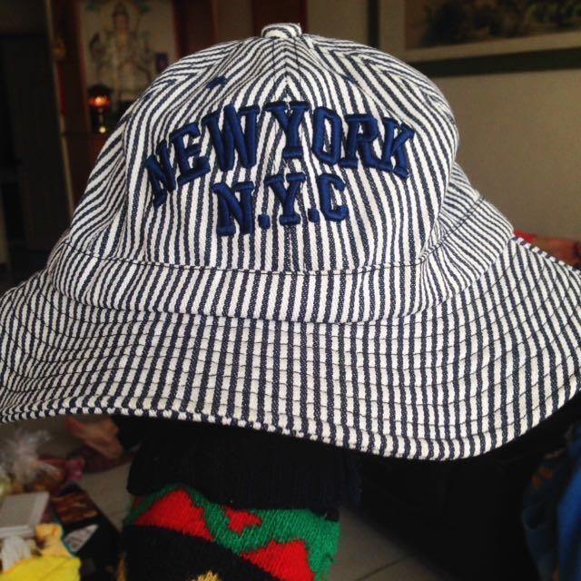 含運🎈藏青色 漁夫帽 99新❤️