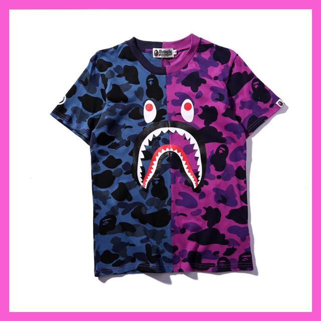 0a9bf83934ae Aape by Bathing Ape (BAPE) pink and blue camo shirt