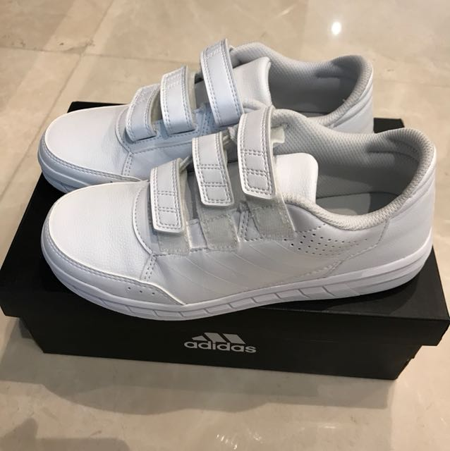 Adidas all white school shoes AltaSport size 3.5 on Carousell 486b51bf0