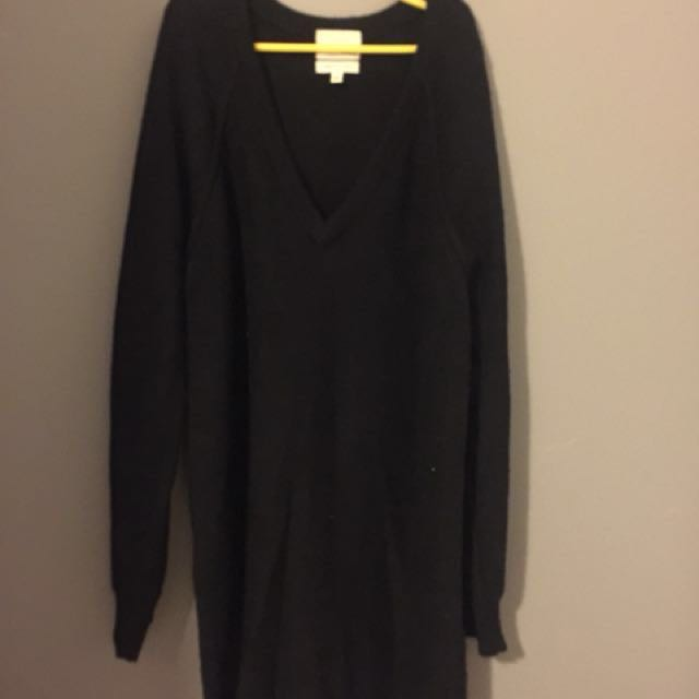 Aritzia Wool Sweater Dress XS