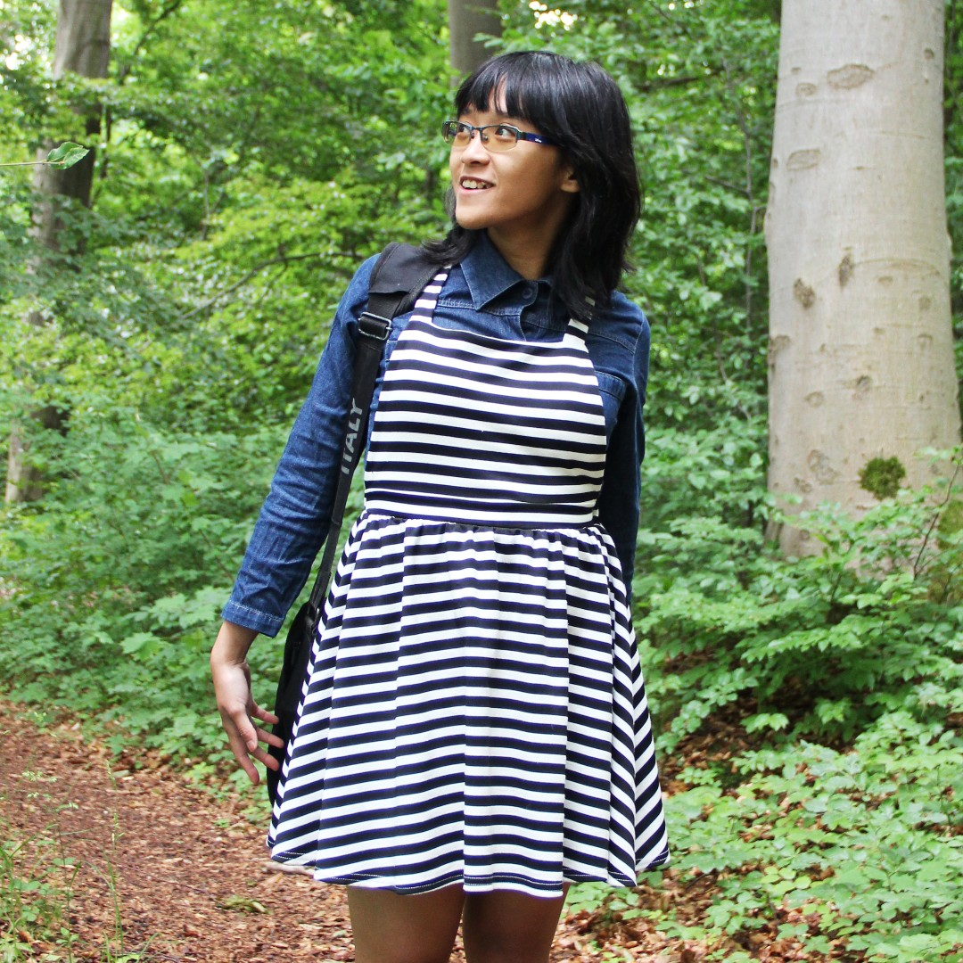 ASOS Striped Pinafore Dress