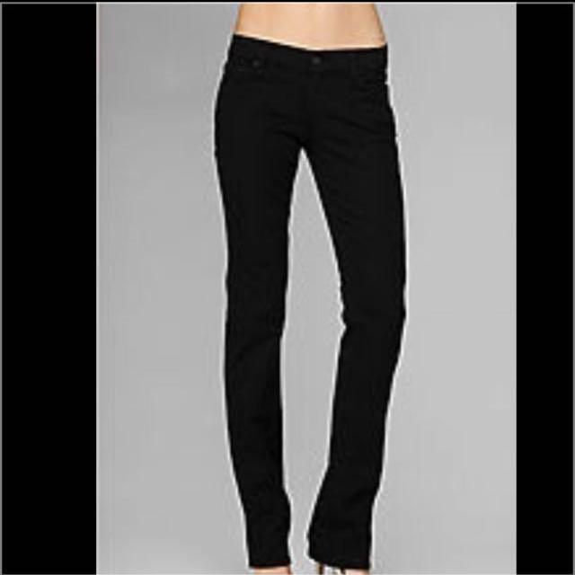 e84e11c2ace Authentic 7 FOR ALL MANKIND Classic Slim Black Pants Jeans, Women's ...