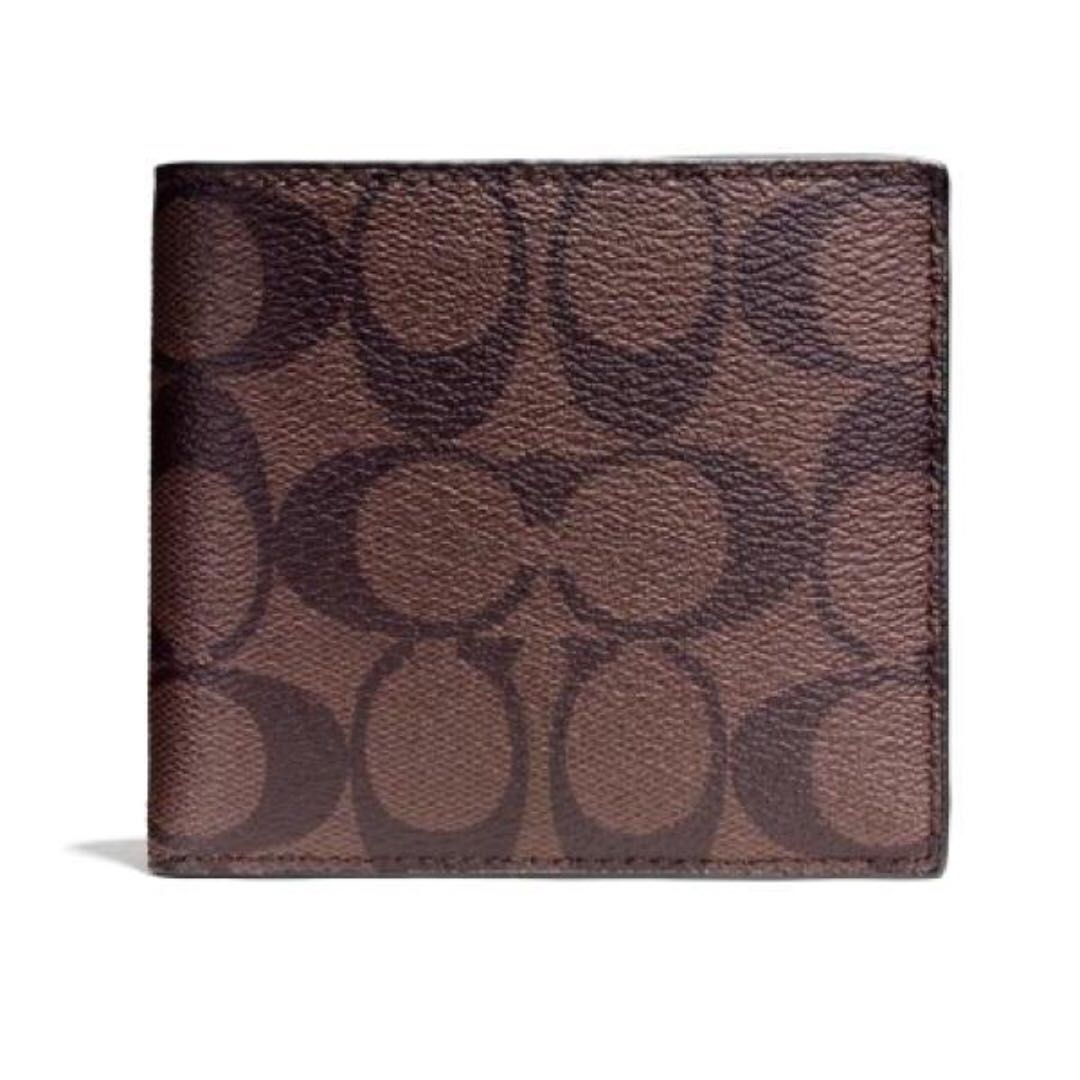 75a11495ea3dd ... norway authentic coach men wallet with box gift for dad hubby bf bros  model f75083 mens