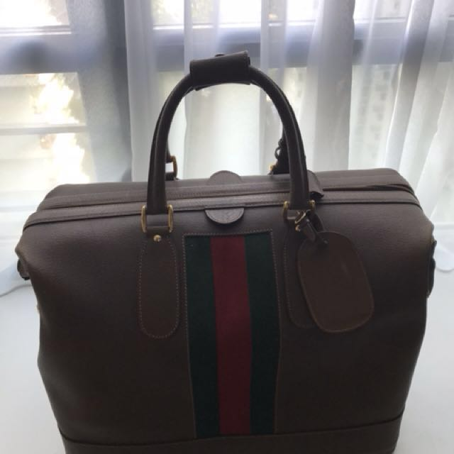 97429f9a0bd6 Authentic Gucci Boston Large Leather Bag - Vintage hermes Lv chanel ...