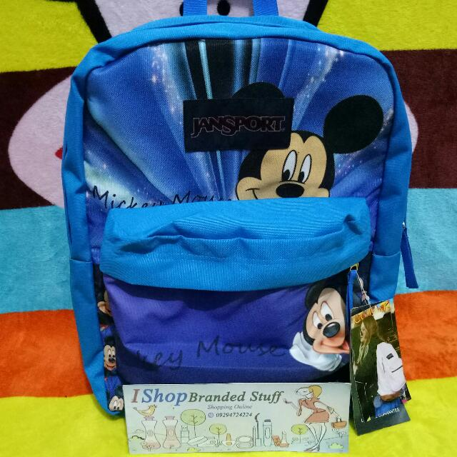 Authentic JanSport Bag - Mickey Mouse