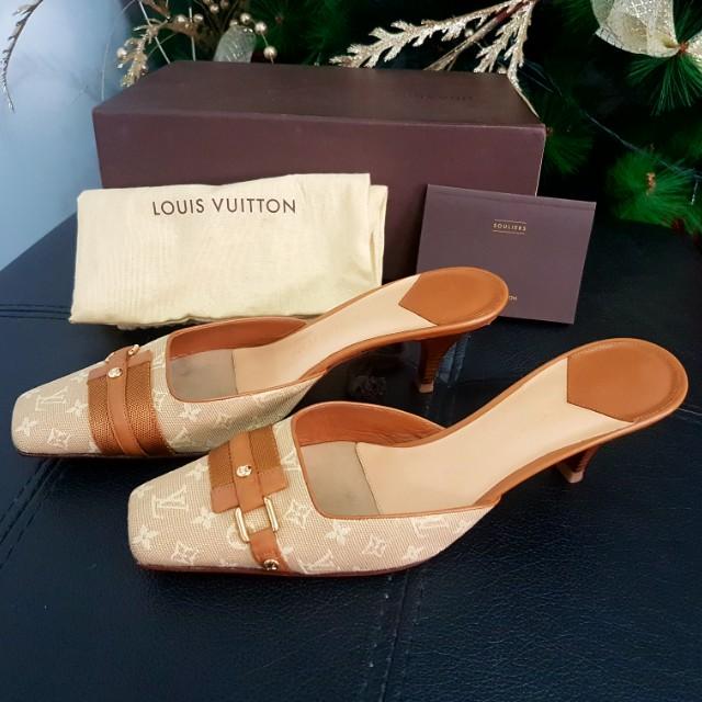 Authentic LV slip on sandals