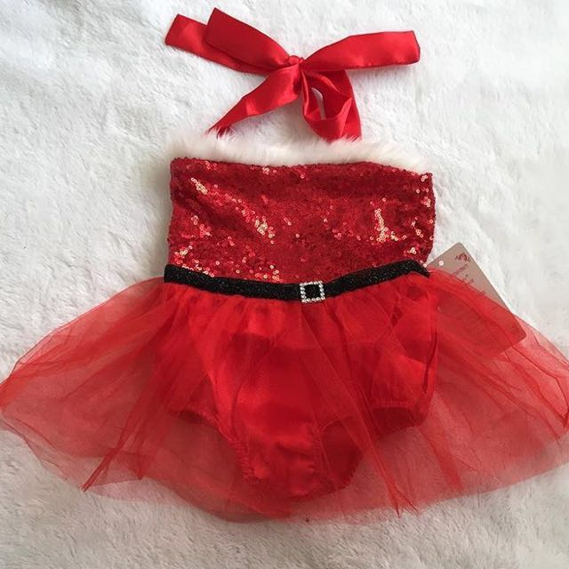 Baby Santa Costume with Santa Headband