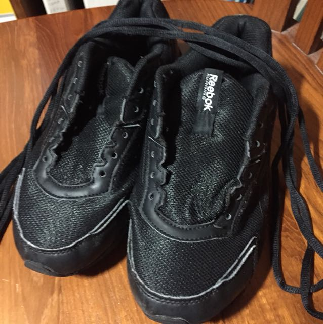 Black reebok running shoes