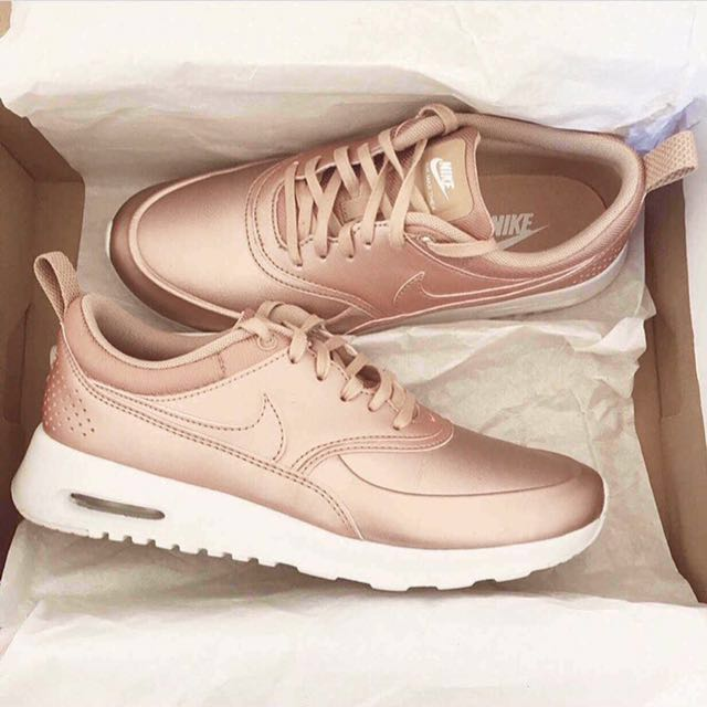 1677ec75e1c45f BNIB) Nike Air Max Thea Rose Gold