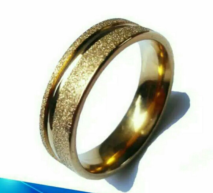 Fashion Plain Titanium Steel Ring Wedding Band - intl. Source · photo photo .