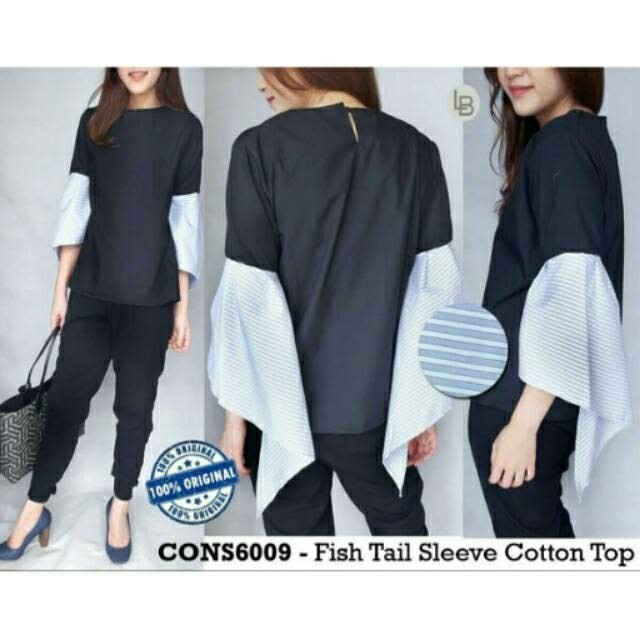Consenso Tail Fish Sleeve Blouse