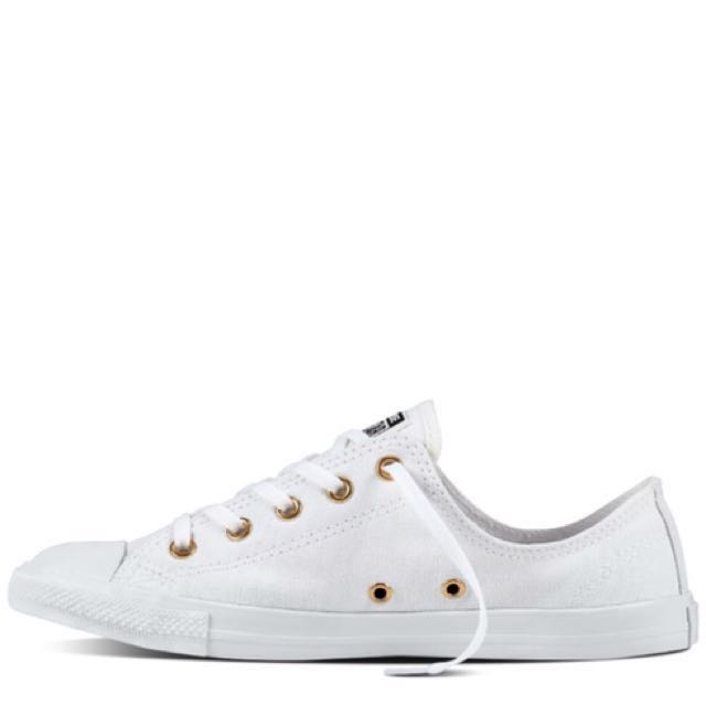 converse shoe white and gold