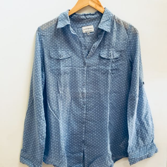 Cotton On Blue Polkadot Shirt