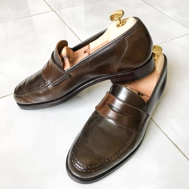 77447cb84f7 crockett   jones penny loafer cigar cordovan loake alden