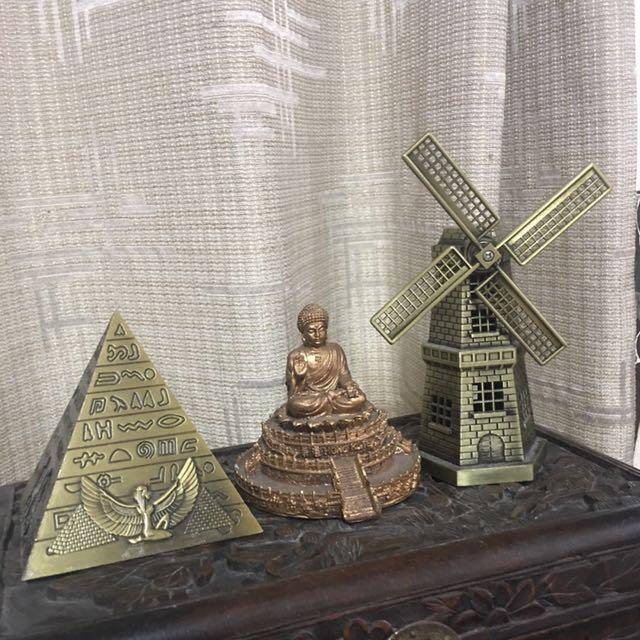Desk Decor Buddha Pyramid Windmill