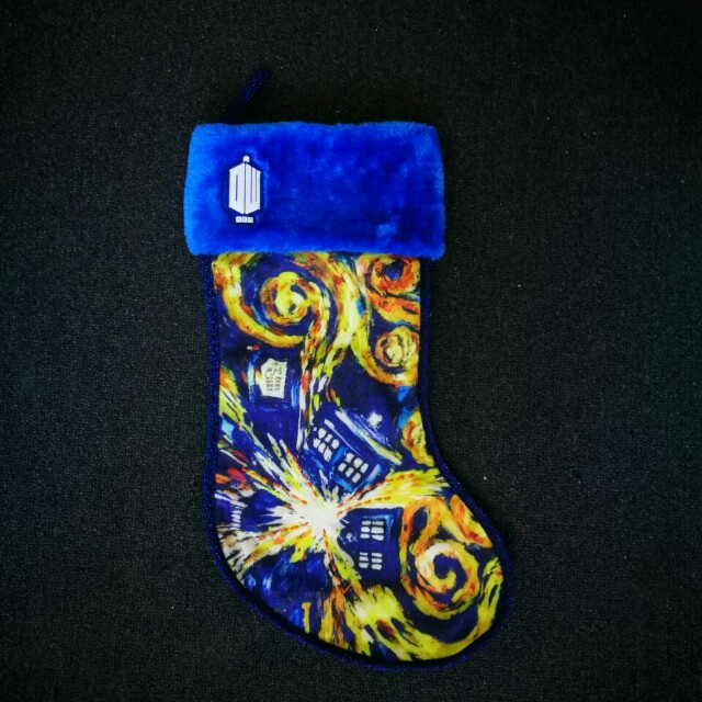 Doctor who christmas sock