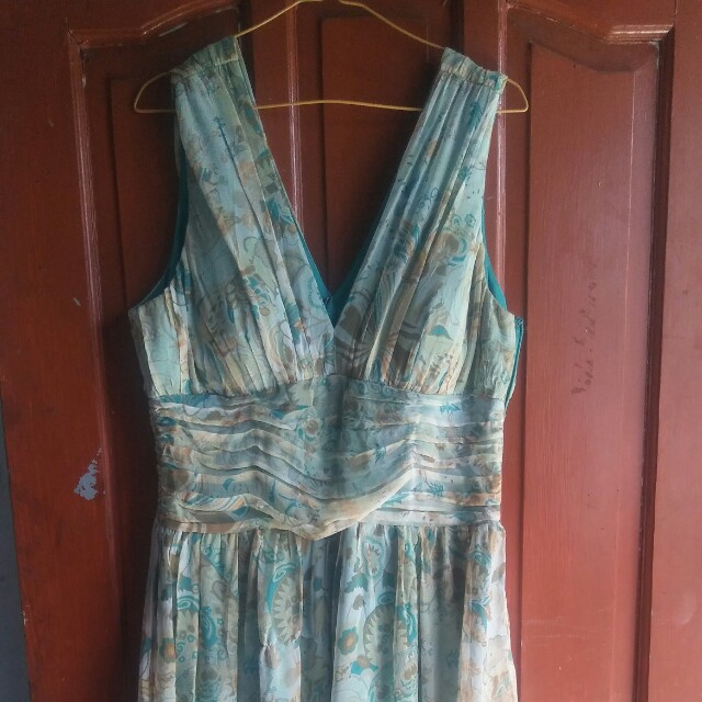 Dress vintage hijau fit to xl