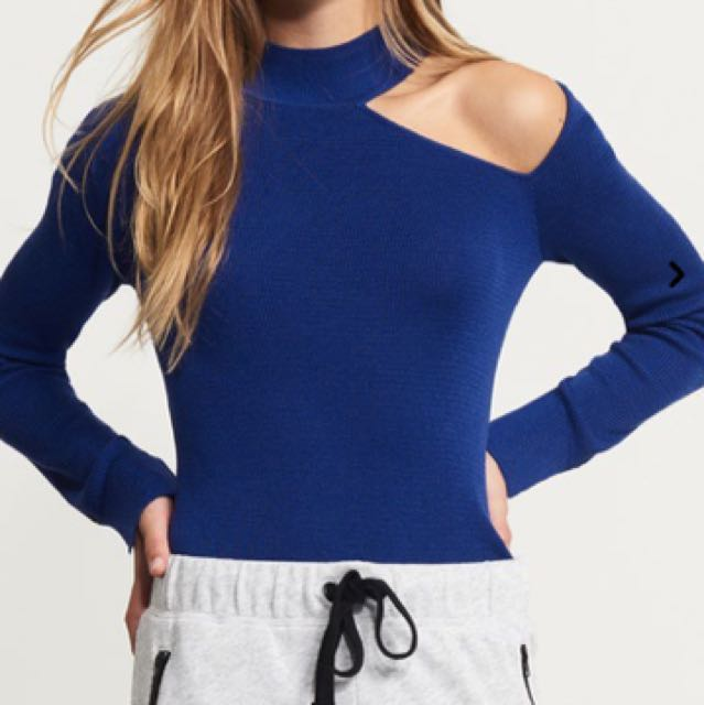 Dynamite Turtleneck Cutout Sweater