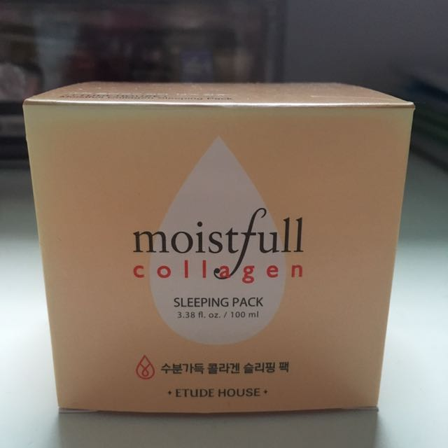 Etude House-Moistfull Collagen Sleeping Pack, Health & Beauty, Bath & Body on Carousell