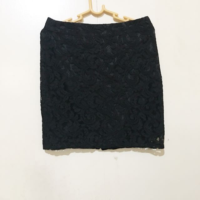 For me Black lacey skirt