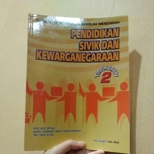 Form 2 Pendidikan Sivik Dan Kewarganegaraan Textbooks On Carousell