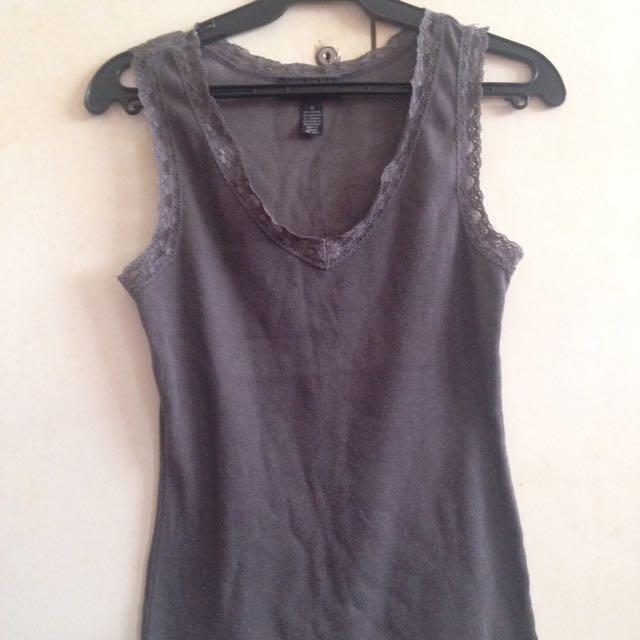 Gray laced sleeveless
