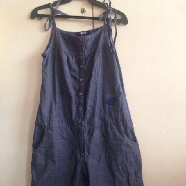 Gray spaghetti sleeveless strp romper/ jumpsuit Dickies