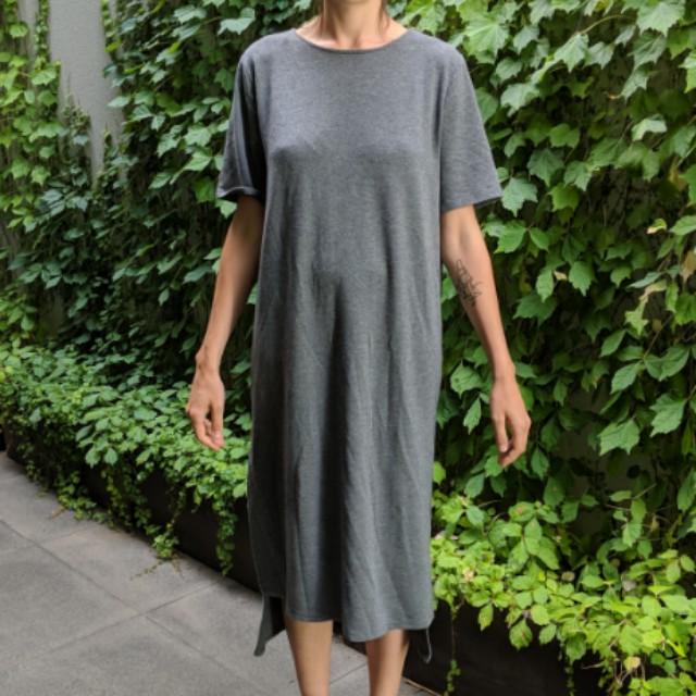 Grey oversized tshirt dress
