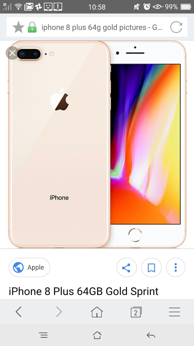 Iphone8 plus 64G gold (lucky draw item)