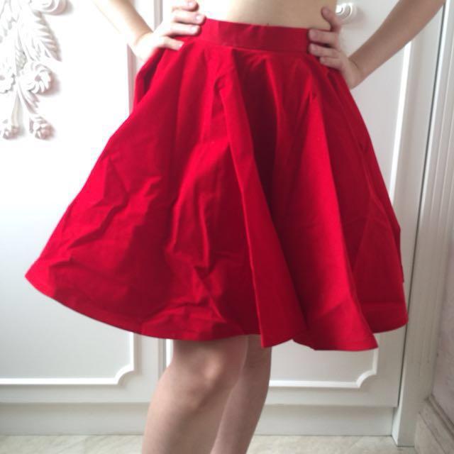 Jolie Clothing Red Skirt