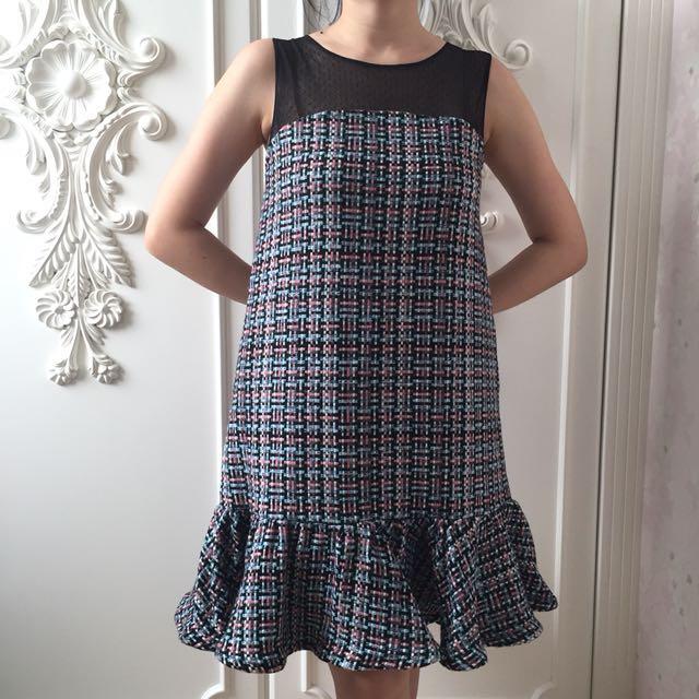 Jolie Clothing Tweed Dress