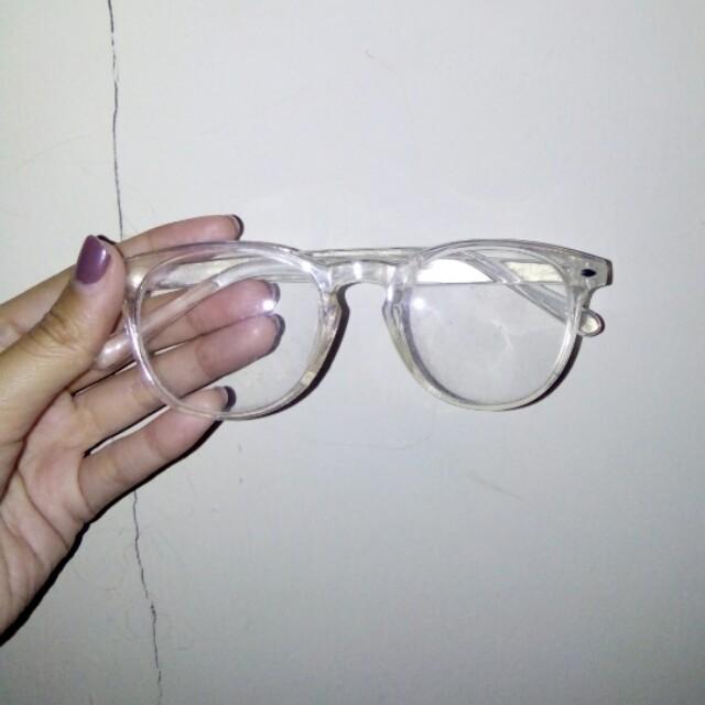 Kacamata Gaya Gagang Bening