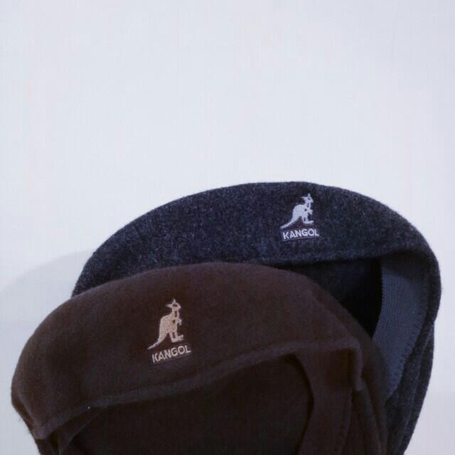 (鐵灰)Kangol 袋鼠帽 小偷帽 貝蕾帽 紳士帽 深灰 高磅 重磅 毛呢 復古 古著 刺繡