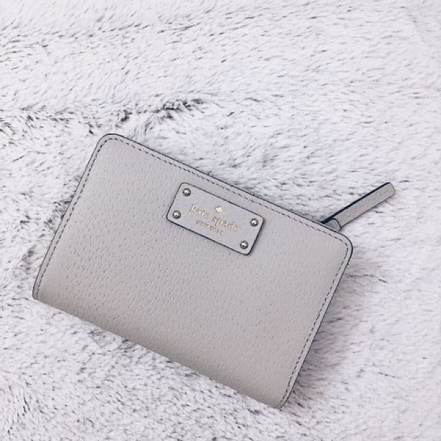 Kate Spade Grey Leather Wallet
