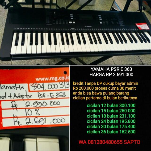 Keyboard Yamaha Psr E363 Bisa Cicil Tanpa Dp Everything