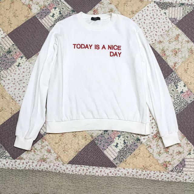 Korea ::: 韓國Today is a nice day配色字母大學Tee