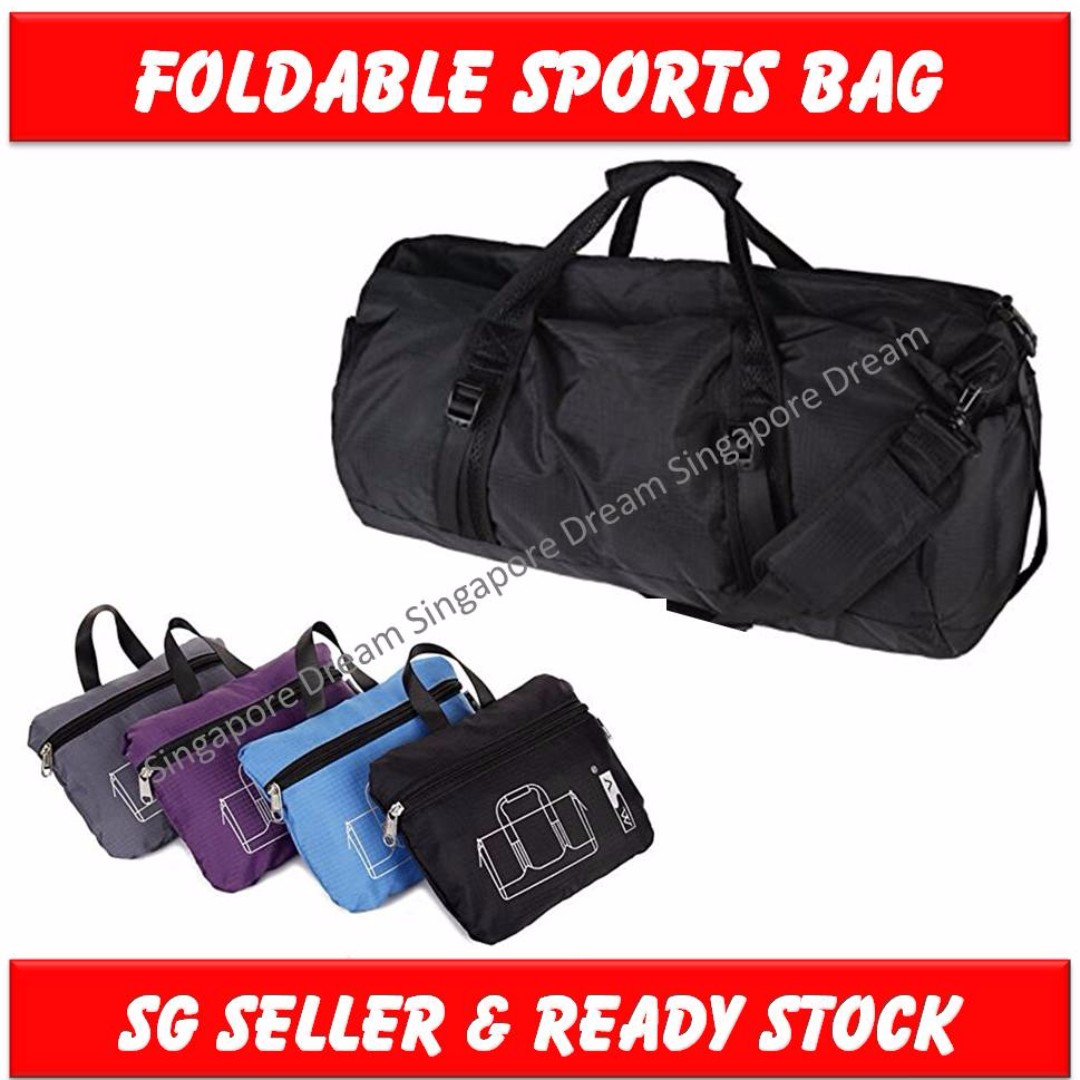 95da8aeff594 Large Foldable Waterproof Lightweight Travel Luggage Gym Sports Duffel Bag  With Shoulder Strap
