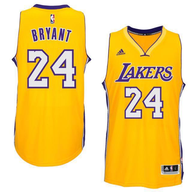 1168a6756 Los Angeles Lakers Kobe Bryant  24 - NBA Adidas Swingman Jersey (Authentic    Brand New)