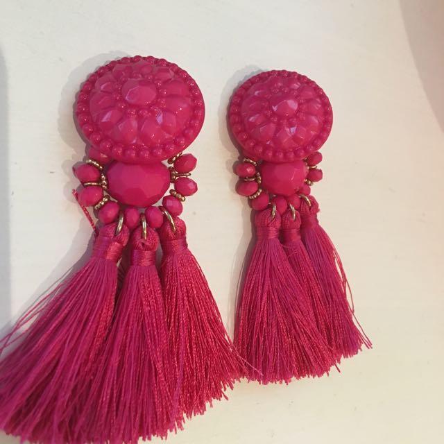 Lovisa Magenta Pink Earrings