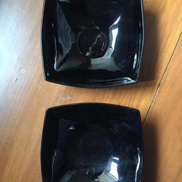 Luminarc Quadrato Square Fruit Bowls (black)