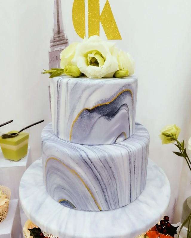 Marble Fondant Cake Food Amp Drinks Baked Goods On Carousell
