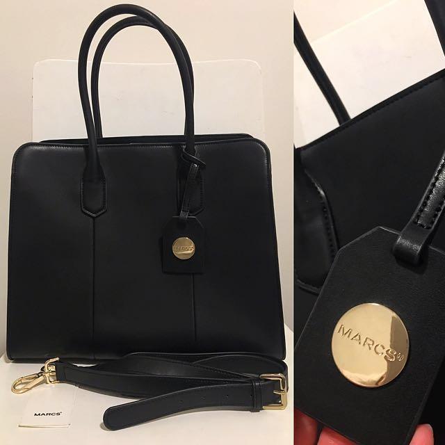 Marc's Black Aria Tote Bage