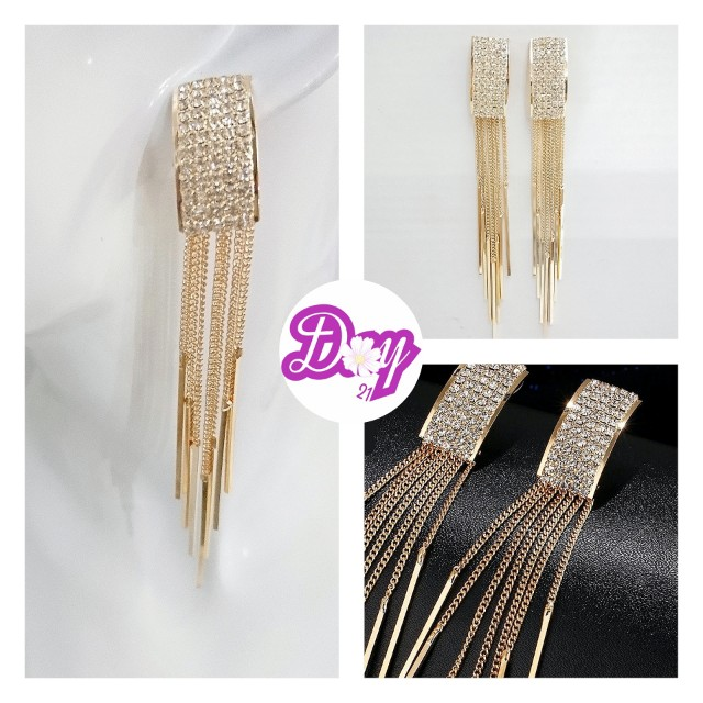 """[MerryCharms.com/Day 21] DY2116 """"Glamorous Gold"""" Earrings"""