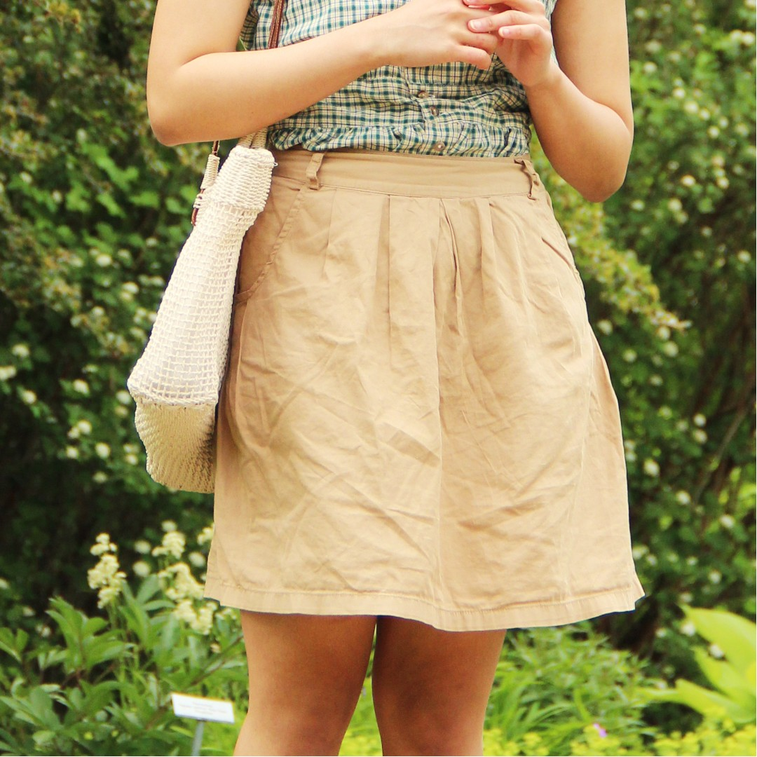Midi Casual Skirt + Pockets