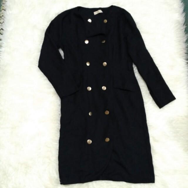 Midi Dress Korea Vintage Blazer