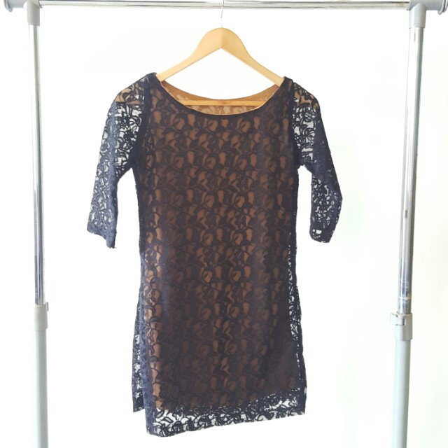 Mini Black Lace Dress